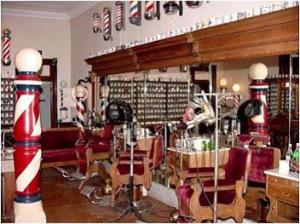 Antique Barbering Chairs at the Ed Jeffers Barber Museum and Barber Hall of Fame