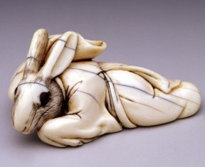 Reclining rabbit