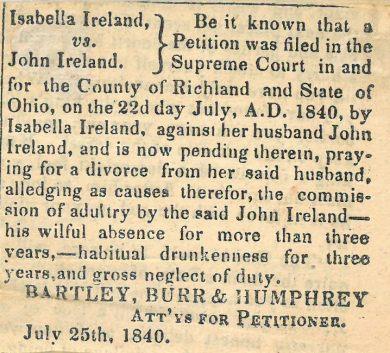 Ireland Divorce Proof of Notice