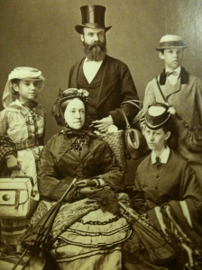 Photograph of the Randall Wade Family circa 1870, from the collections of the Western Reserve Historical Society, as seen on thewadeproject.wordpress.com