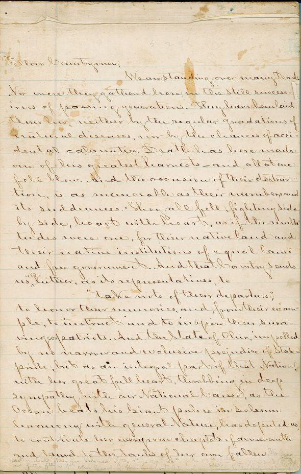 Gettysburg address from MSS1343 B07 F12